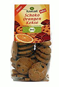 Čokoládovo-pomarančové sušienky BIO