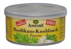 Bazalkovo-cesnaková rastlinná nátierka na chlieb a pečivo BIO